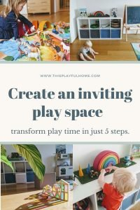 create an inviting play space Pinterest graphic