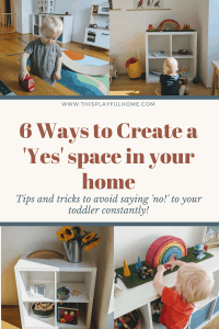 6 Ways to create a 'yes' space Pinterest graphic